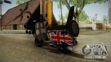 GTA 5 Pegassi Faggio Cool Tuning v3 para GTA San Andreas