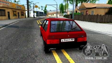VAZ 2108 para GTA San Andreas traseira esquerda vista