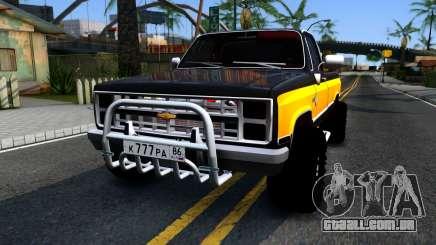 Chevrolet Silverado K-10 2500 1986 para GTA San Andreas