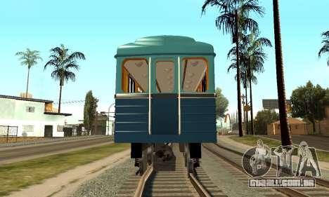 ST_M Metrovagon tipo de Ouriço para GTA San Andreas vista interior