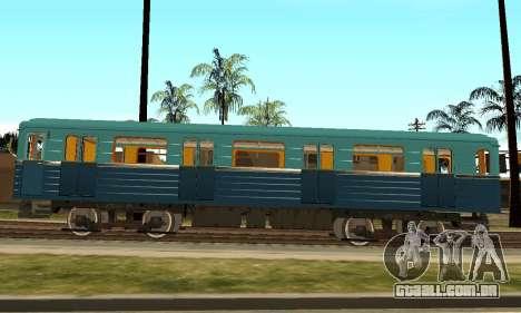 ST_M Metrovagon tipo de Ouriço para GTA San Andreas vista traseira