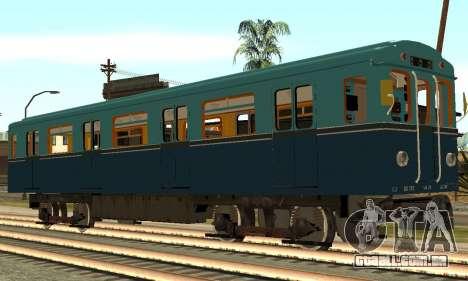 ST_M Metrovagon tipo de Ouriço para GTA San Andreas traseira esquerda vista