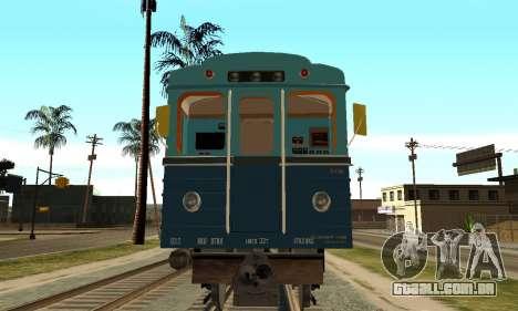 ST_M Metrovagon tipo de Ouriço para GTA San Andreas esquerda vista