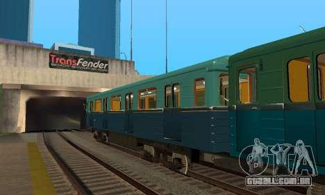 ST_M Metrovagon tipo de Ouriço para GTA San Andreas vista superior