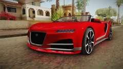GTA 5 Truffade Nero Spyder para GTA San Andreas