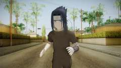 NUNS4 - Sasuke Genin Black Clothes Normal Eyes para GTA San Andreas