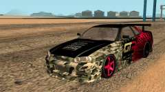 Nissan GTR R34 GTR CLÃ для GTA San Andreas para GTA San Andreas