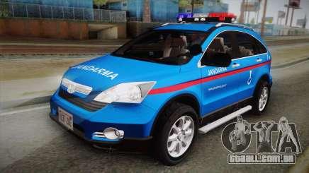 Honda CR-V Turkish Gendarmerie para GTA San Andreas