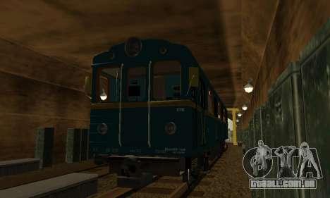 ST_M Metrovagon tipo de Ouriço para vista lateral GTA San Andreas
