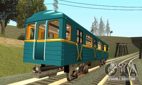 ST_M Metrovagon tipo de Ouriço para GTA San Andreas vista direita