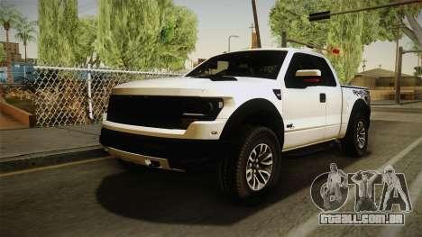 Ford F-150 SVT Raptor 2014 para GTA San Andreas