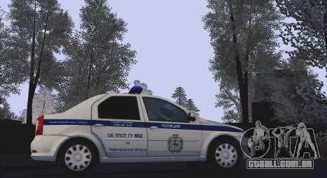 Renault Logan para Moi. para GTA San Andreas traseira esquerda vista