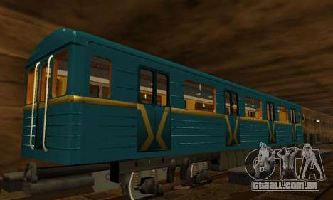 ST_M Metrovagon tipo de Ouriço para GTA San Andreas vista inferior