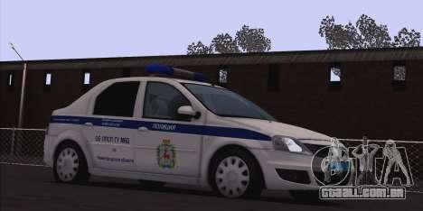 Renault Logan para Moi. para GTA San Andreas esquerda vista