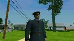 O capitão de polícia da URSS