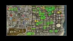 Mapa com os números das casas ARP