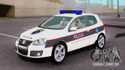 Volkswagen Golf V BIH Police Car para GTA San Andreas