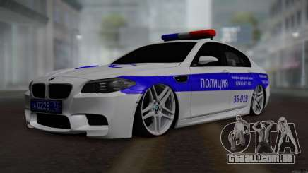 BMW M5 F10 Polícia para GTA San Andreas
