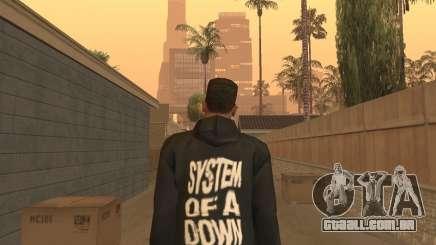 System of a Down Black Hoody v1 para GTA San Andreas