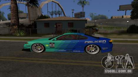 Nissan Silvia S15 Drift Style para GTA San Andreas traseira esquerda vista