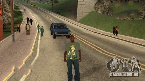 T-Shirt De Fallout para GTA San Andreas terceira tela