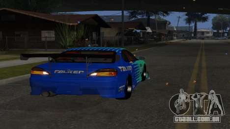 Nissan Silvia S15 Drift Style para GTA San Andreas vista direita