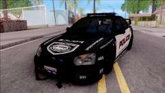 Subaru Impreza WRX STi High Speed Police para GTA San Andreas