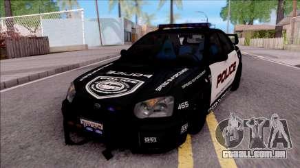 Subaru Impreza WRX STi High Speed Police para GTA San Andreas