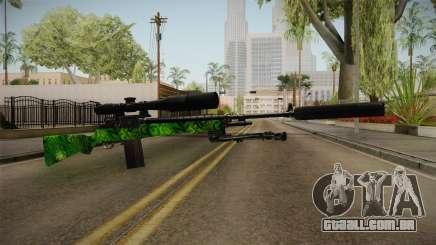 Green Sniper Rifle para GTA San Andreas