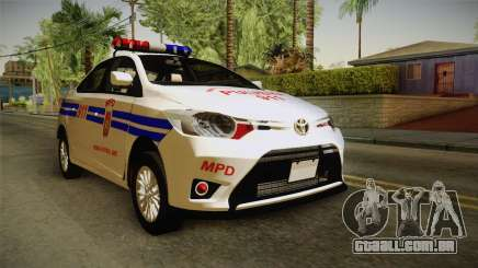Toyota Vios 2014 Philippine National Police para GTA San Andreas