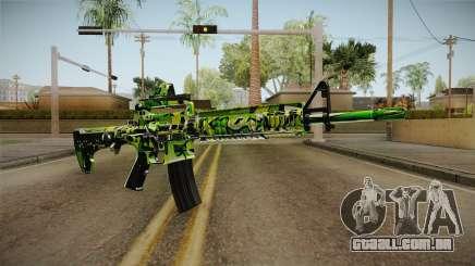 Green Camouflage M4 para GTA San Andreas