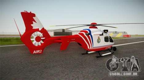 Airbus Eurocopter EC-135 YRP para GTA San Andreas esquerda vista