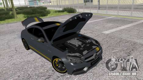 Mercedes-Benz C63 Coupe Edition 1 para GTA San Andreas traseira esquerda vista