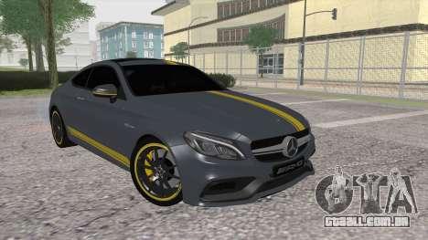 Mercedes-Benz C63 Coupe Edition 1 para GTA San Andreas