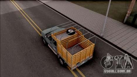 Nissan Frontier para GTA San Andreas vista traseira