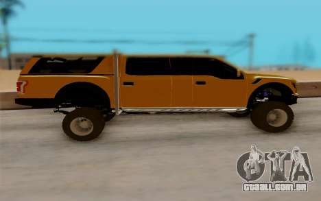 Ford F150 Raptor 4x4 Off-Road para GTA San Andreas esquerda vista