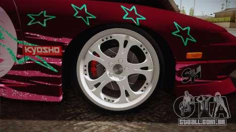 Nissan 240SX Ousawa Miu Itasha para GTA San Andreas vista traseira