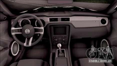 Ford Mustang Shelby GT500 Dubai HS Police para GTA San Andreas