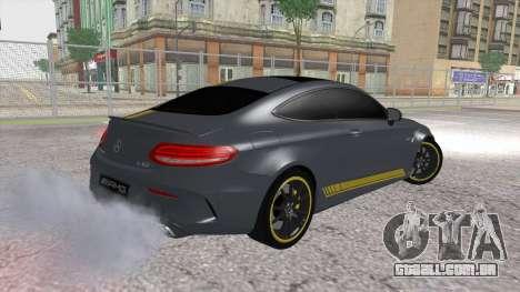 Mercedes-Benz C63 Coupe Edition 1 para GTA San Andreas esquerda vista