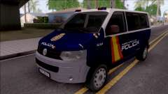Volkswagen Transporter Spanish Police para GTA San Andreas