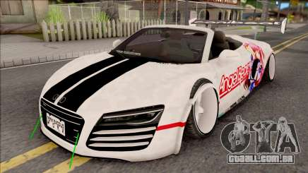 Audi R8 Spyder Angel Beats para GTA San Andreas