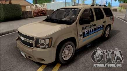 Chevrolet Tahoe Bayside Police Department 2010 para GTA San Andreas