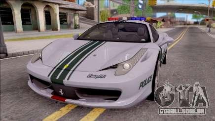 Ferrari 458 Italia Dubai High Speed Police para GTA San Andreas