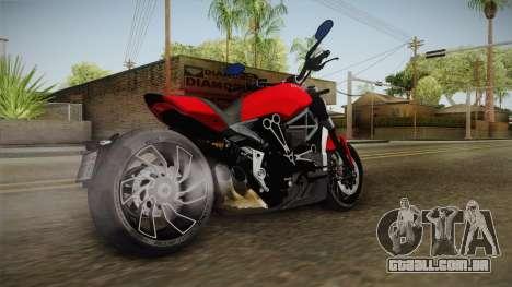 Ducati XDiavel S 2016 IVF para GTA San Andreas esquerda vista