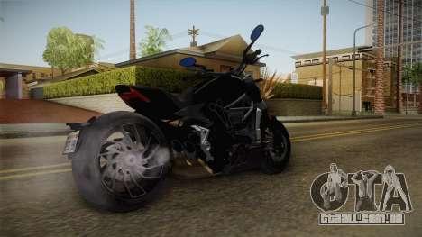 Ducati XDiavel S 2016 HQLM para GTA San Andreas traseira esquerda vista