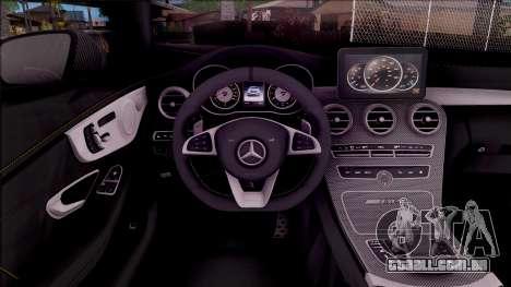 Mercedes-Benz C63S AMG Coupe 2016 para GTA San Andreas vista interior