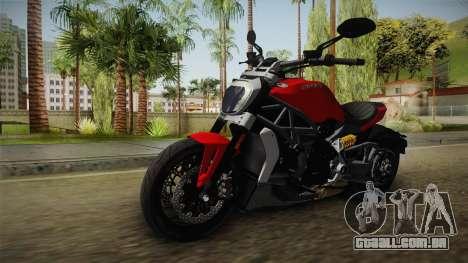 Ducati XDiavel S 2016 IVF para GTA San Andreas vista direita