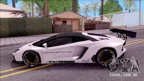 Lamborghini Aventador LP700-4 LB Walk Custom para GTA San Andreas