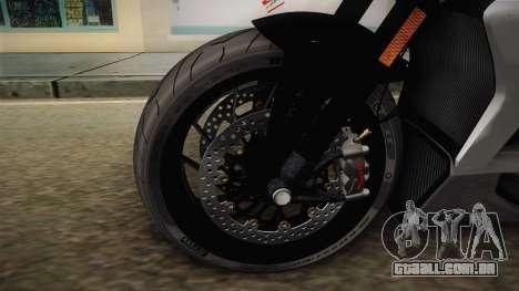 Ducati XDiavel S 2016 HQLM para GTA San Andreas vista traseira