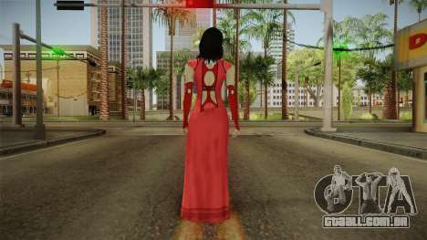 Mass Effect 3 Miranda DLC Citadel Dress Red para GTA San Andreas terceira tela